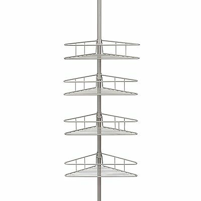 Spring Tension Shower Pole Caddy with 4 Shelves!!!
