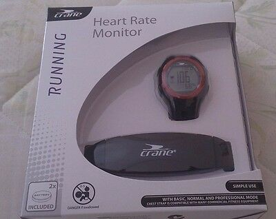 Heart Rate Monitor Watch and Chest Strap + Bike Mounting Kit Brand New (crane)