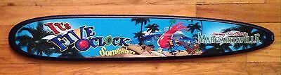 """Jimmy Buffet's Margaritaville """"Its's Five O'clock Somewhere"""" Wooden Sign"""
