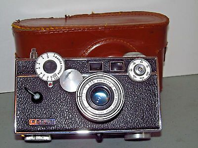 "Argus C3 Rangefinder Camera ""The Brick"" with Leather Case 50mm f3.5 Lens 1948"