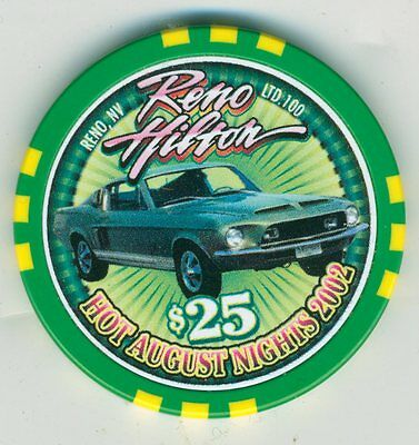 ONLY 100 MADE! Ford Mustang on 2002 $25 Hot August Nights chip, Reno Hilton