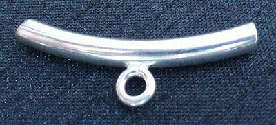 Sterling Silver Curved Tube with Closed Ring Slider Bail Necklace Bail Jewellery