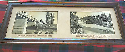 NSWGR cedar framed vintage double carriage photo - Canberra ACT