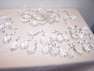 56 pc Chandelier Spares Drops , Lighting Pendant Glass Crystal Architectural