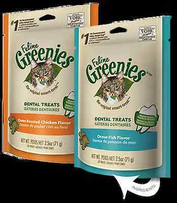 New  Feline Greenies Chicken 85G