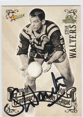 2008 Centenary Of Rugby League Signed Card - Steve Walters - Top 100