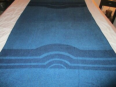 vintage PAN AM airline blanket 80s blue stripes authentic travel throw Germany