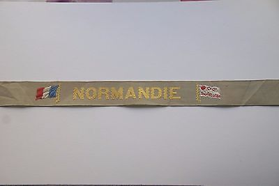 SS NORMANDIE 1935 Maiden Voyage CAP TALLY (East Bound from NY)