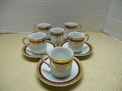 Five Vintage Demitasse Cups And Saucers Capital Fine Porcelain Made In Japan