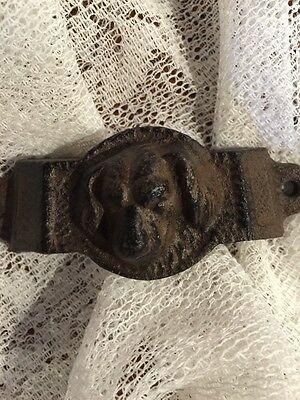 Set of 2 Vintage Style, Ornate, Dog, Cast Iron, Cup Style Drawer Pulls, Bin Pull