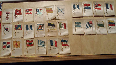 Vintage Lot Of 26 Tobacco Silk Flags