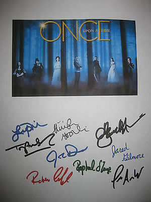 Once Upon a Time Signed TV Script X9 Goodwin Morrison Dallas Parrilla reprint