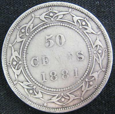 G5060 - 1881 - Canada - Nfld - 50 Cent Coin - Ungraded - Nr