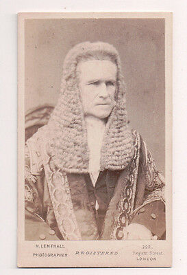 Vintage CDV Roundell Palmer, 1st Earl of Selborne Lord Chancellor Great Britain