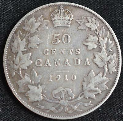 G905 - 1910 - Canada - 50 Cent Coin - Ungraded - Nr