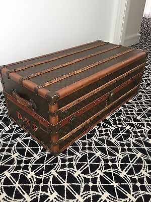 LOUIS VUITTON Vintage Steamer Trunk / Chest Antique in Excellent Condition
