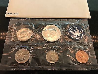 1965 Special US Mint Uncirculated Coin Set In Original Envelope W/Letter
