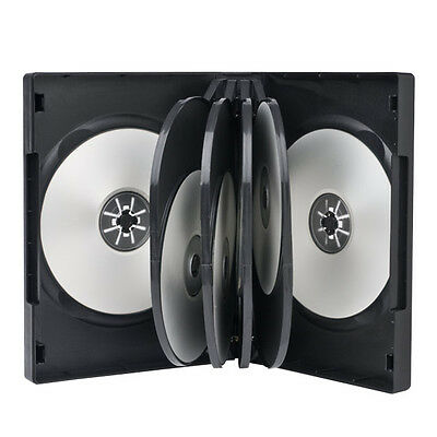 1 Premium 10 Multi Disc Black DVD Case 33mm Holds 10 Disc with Clear Overlay New