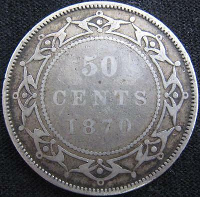 G919 - 1870 - Canada - Nfld - 50 Cent Coin - Ungraded - Nr