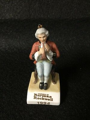 1994 Grossman Norman Rockwell Horn Player Ornament Free Shipping