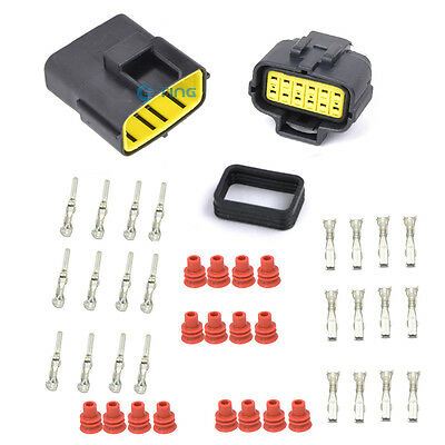 1 Set Car Waterproof Electrical Wire Connector Plug AWG 12 Pin Way Terminals ET