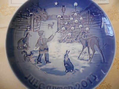 Bing & Grondahl 2013 Annual Christmas Plate Light In the Snow, NEW W/CERTIFICATE