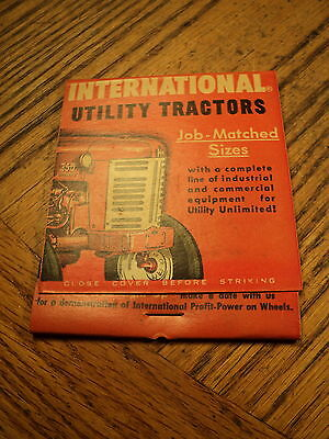 Vintage International Harvester  Utility Tractors    Giant Feature Match Book