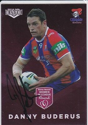 2014 NRL ELITE Women In League Signed Insert Card - Danny Buderus - Knights