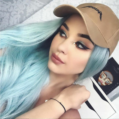 Women's Long Straight Full Wig Heat Resistant Ombre Cosplay Party Anime Hair Wig