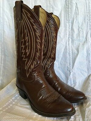 Justin Cowboy Boots / Style 1220 US Men's Sz 7.5 EE Made in USA Vintage 1970's