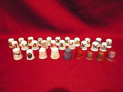 30 Sewing Thimbles Birds Butterflies Plus others Mixed lot