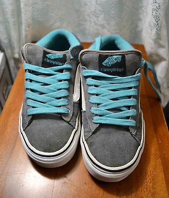 Vans Off the Wall Women's Size 8 Skateboard Shoes Old Skool Gray & Turquoise