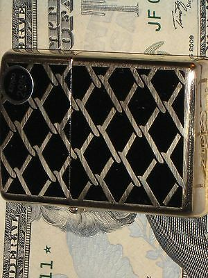 New Genuine ZIPPO Windproof Flame Lighter Chain Links fence Hi Polish Brass USA