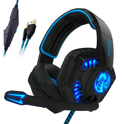 Noswer Gaming Headset LED Luci Cuffie Stereo Earphone Headphone Con Microphone
