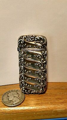 Antique Sterling Silver Match Safe By Whiting & Davis.
