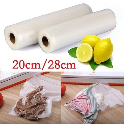 2~4 Rolls 20/28cm Textured Vacuum Vac Sealer Sous Vide Food Saver Storage Bags
