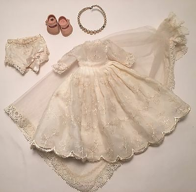 "Vintage Cosmopolitan 7"" Ginger Bridal Dress Veil Bloomers Shoes +"