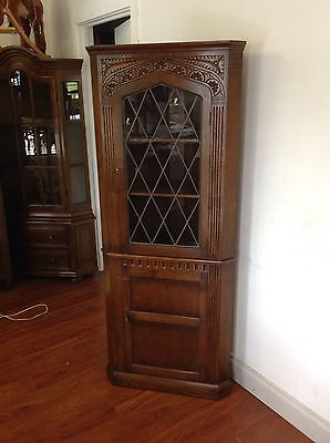Antique Corner Cabinet/Display Unit