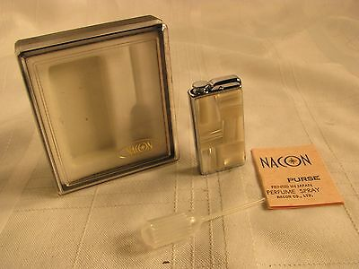 Nacon Purse Perfume Spray Atomizer Mother of Pearl-with box-instructions-filler