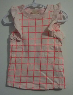 Cotton On Baby Dress, Pink Check Print, Size 00 (3-6 Months)