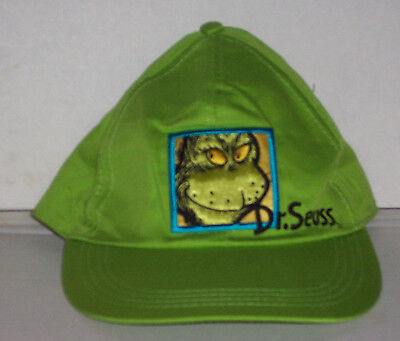 Dr. Seuss Grinch Hat Cap Green New With Tags