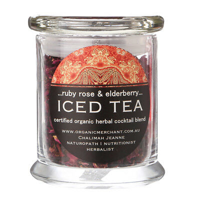 NEW Organic Merchant Ruby Rose & Elderberry Iced Tea Jar