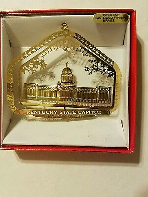 State Capitol Frankfort Kentucky Brass Christmas Ornament