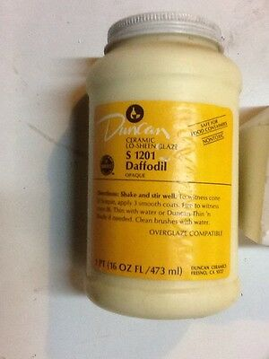 Duncan S1201 DAFFODDIL Lo-Sheen 16oz Opaque Food Safe Ceramic Bisque Glaze
