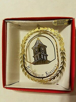 Hopkinsville  Kentucky Brass Christmas Ornament