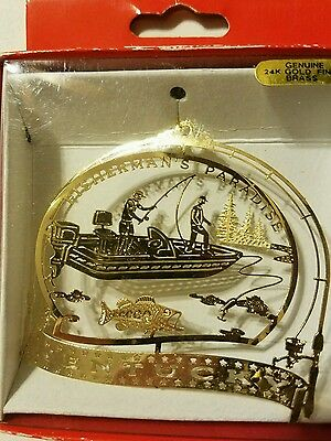 Fishermans Paradise Kentucky Brass Christmas Ornament