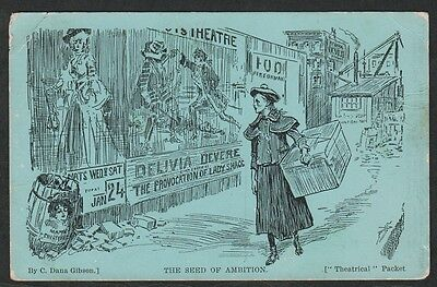 """k1722)     EARLY 1900's MELBOURNE AUSTRALIA PC """"THEATRICAL"""" THE SEED OF AMBITION"""