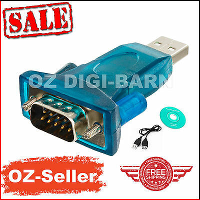 USB to RS-232 DB9 9 Pin Serial Adapter With Female Screw for Windows7 Vista32/64