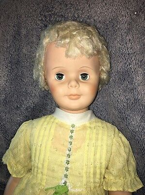 "Rare Vintage 35.5"" 1960 Walker Vogue Ginny- Patti Playpal Type Doll Marked 36-2"