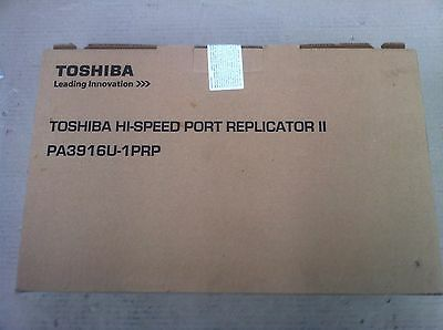 Toshiba Hi Speed Port Replicator ll PA3916U-1PRP USB3.0 HDMI With Adapter
